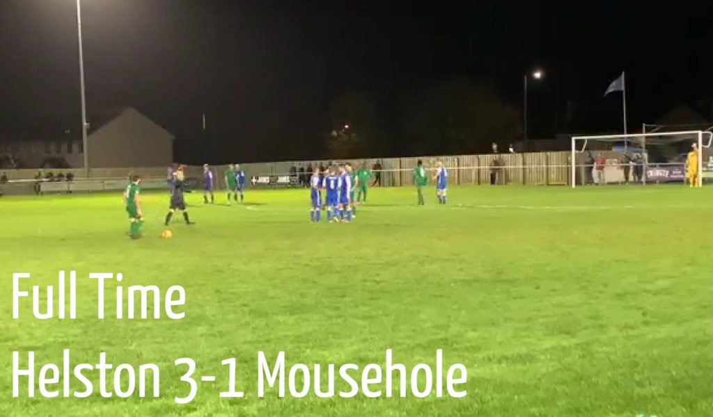 Match report Helston vs Mousehole October 2019